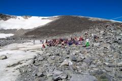 Första rasten vid glaciären